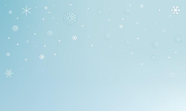 Flocos de neve arte papel abstrato ilustração vetorial de fundo