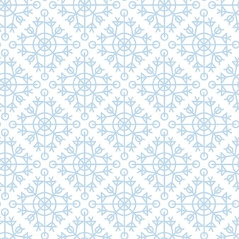 Flocos de neve azuis sobre um fundo branco. feliz natal padrão sem emenda geométrico. flocos de neve minimalistas primitivos.