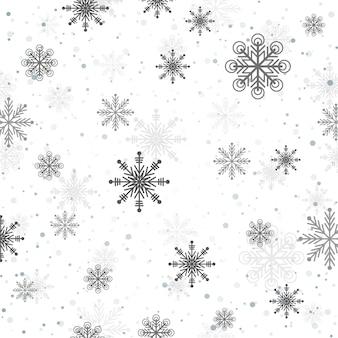 Flocos de neve branco fundo decorativo