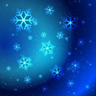 Flocos de neve brilhantes abstratos