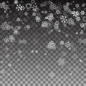Flocos de neve caindo abstratos