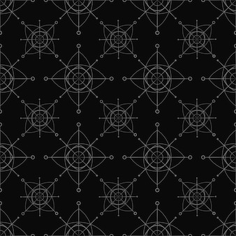 Flocos de neve cinzentos em um fundo preto. feliz natal padrão sem emenda geométrico. flocos de neve minimalistas primitivos.