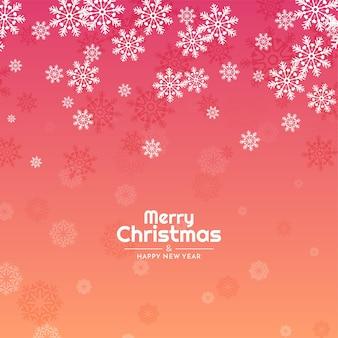 Flocos de neve coloridos fluindo fundo de feliz natal