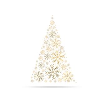 Flocos de neve de árvore de natal