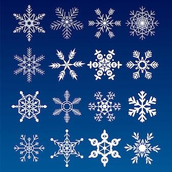 Flocos de neve de coleção. bom elemento para o natal