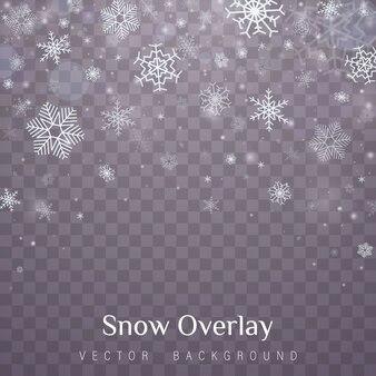 Flocos de neve de natal caindo