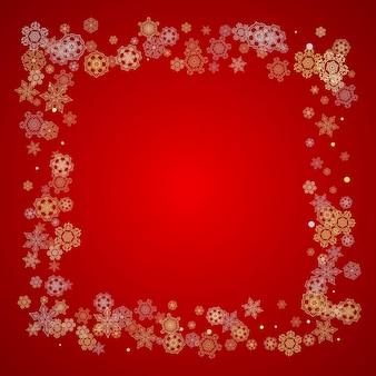 Flocos de neve de natal e ano novo