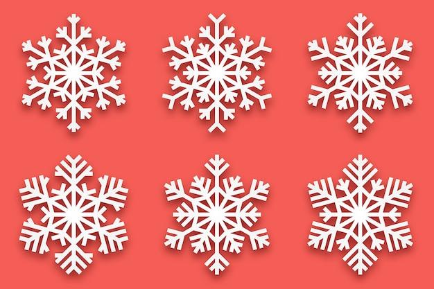 Flocos de neve decorativos de papercut 3d