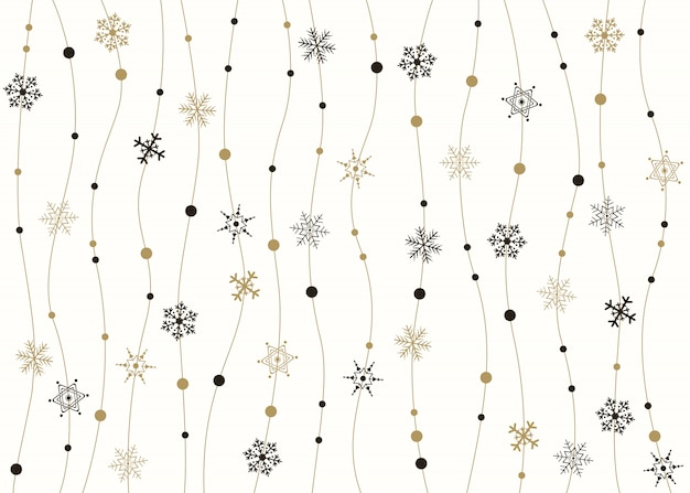 Flocos de neve dourados