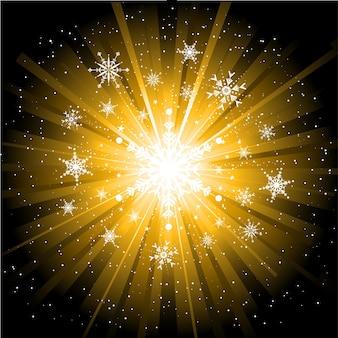 Flocos de neve e estrelas de natal