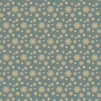 Flocos de neve e estrelas padrão
