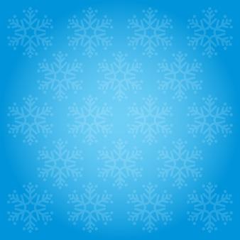 Flocos de neve padrão e fundos azul