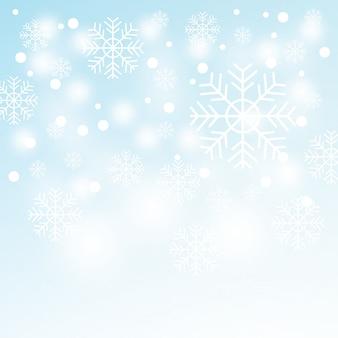 Flocos de neve. paisagem de inverno