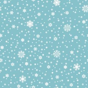 Flocos de neve vetor padrão sem emenda. queda de neve de natal padrão sem emenda, ilustração de floco de neve de inverno