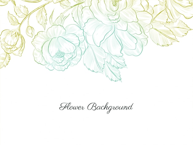 Flor abstrata desenhada à mão suave e colorida