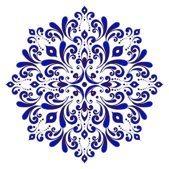 Flor azul decorativa