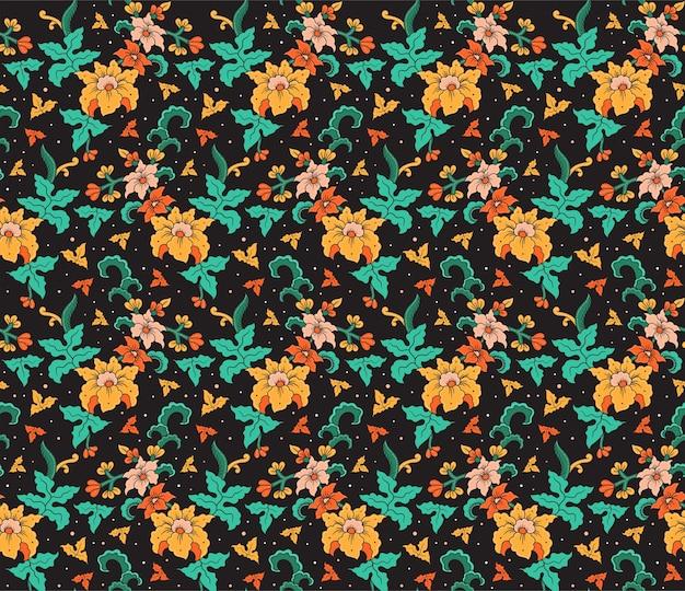 Flor batik desenhado à mão