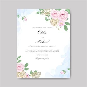Flor bonita para cartão de casamento