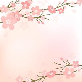 Flor cereja, fundo, ilustração