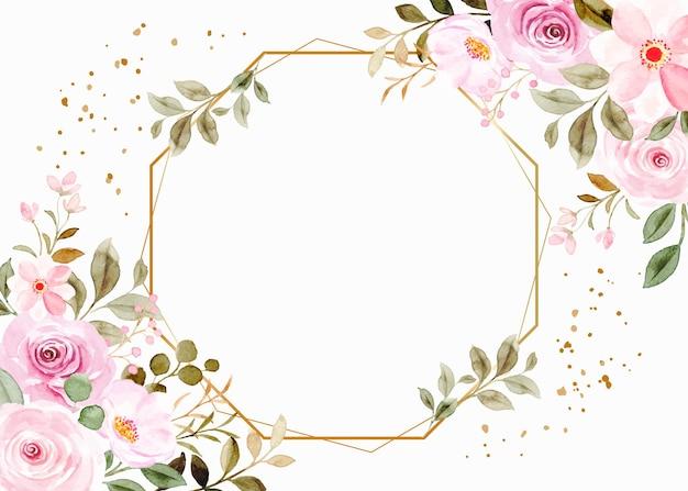 Flor com aquarela