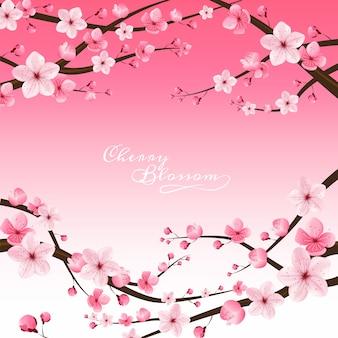 Flor de cerejeira realista
