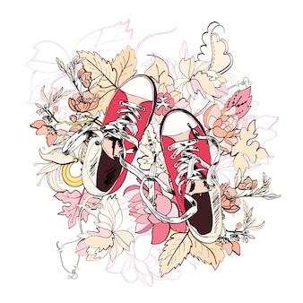Flor de esboço de gumshoes