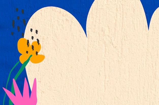 Flor de fundo abstrato, vetor de design de parede texturizada