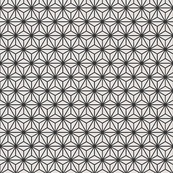 Flor de fundo padrão geométrico sem costura com preto e branco