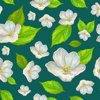 Flor de jasmim estampada