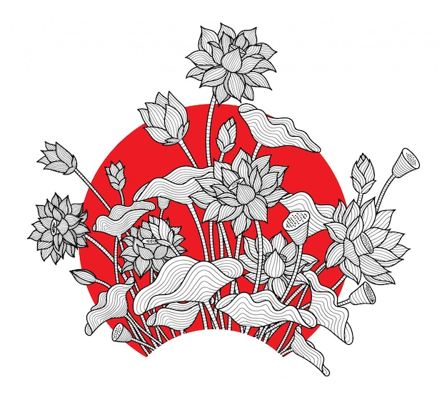 Flor de lótus simples