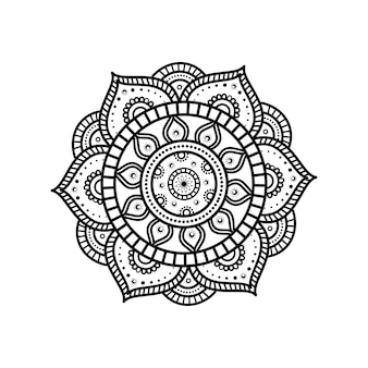 Flor de mandala com detalhes florais