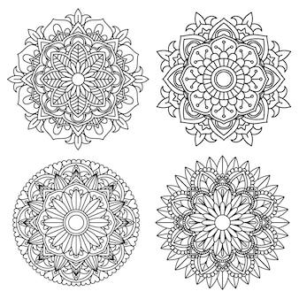 Flor de mandala para livro de colorir adulto