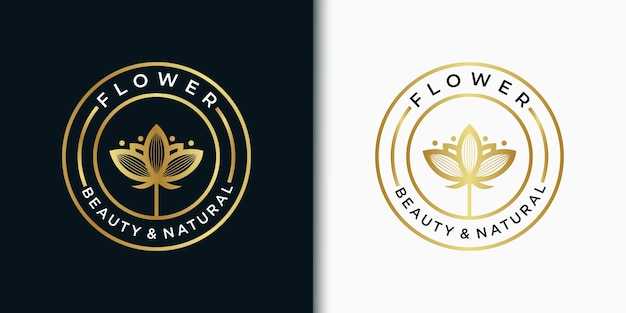 Flor de modelo de logotipo elegante emblema para beleza, cosméticos, ioga, casamento, spa, salão de beleza, boutique e outros produtos de beleza