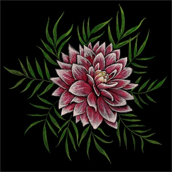 Flor de peônias, ilustração desenhada à mão