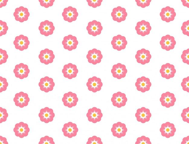 Flor de sakura padrão sem emenda