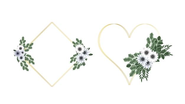 Flor de texto banner background folheto floral 8 de março moldura dia da mulher