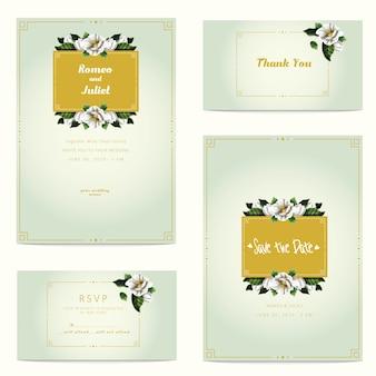 Flor decorativa moderna do vetor do casamento