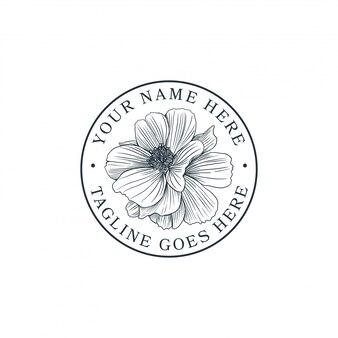 Flor desenhada de mão