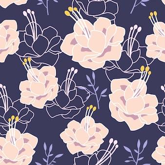 Flor, flor, pastel, padrão