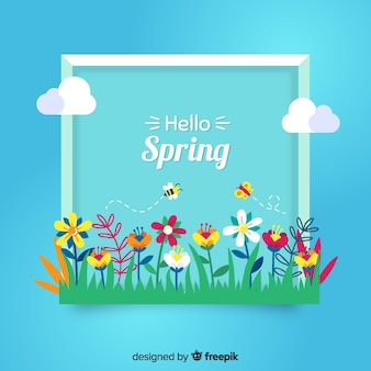 Flor, grupo, primavera, fundo