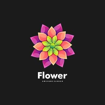 Flor ilustração logotipo