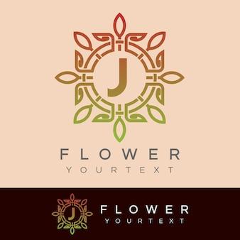 Flor inicial projeto da letra j logo