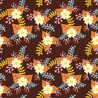 Flor outono padrão sem emenda de fundo vector