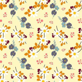 Flor outono vetor padrão sem costura de fundo