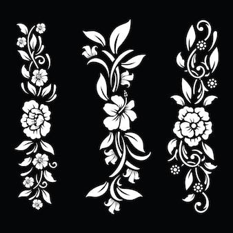 Flor preta e branca