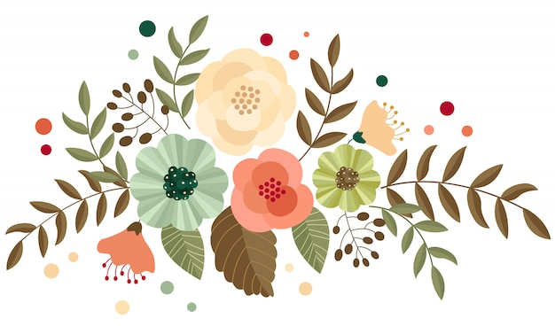 Flor retro simples