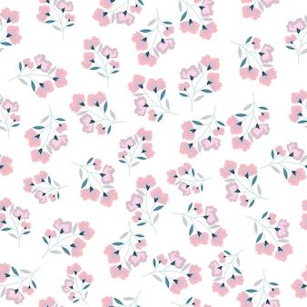 Flor rosa sem costura de fundo