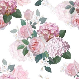 Flor, seamless, padrão, vetorial, ilustração