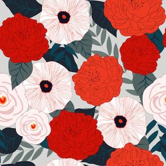 Flor sem costura padrão