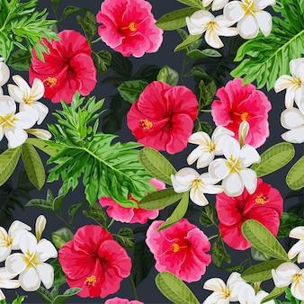 Flor tropical padrão sem emenda
